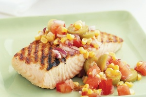 fish with tomato salsa