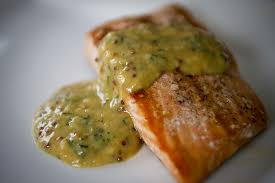 Salmon with Mustard Sacue